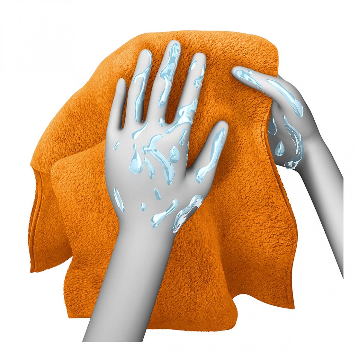 Imagen en la que se ve unas manos secándose con una toalla