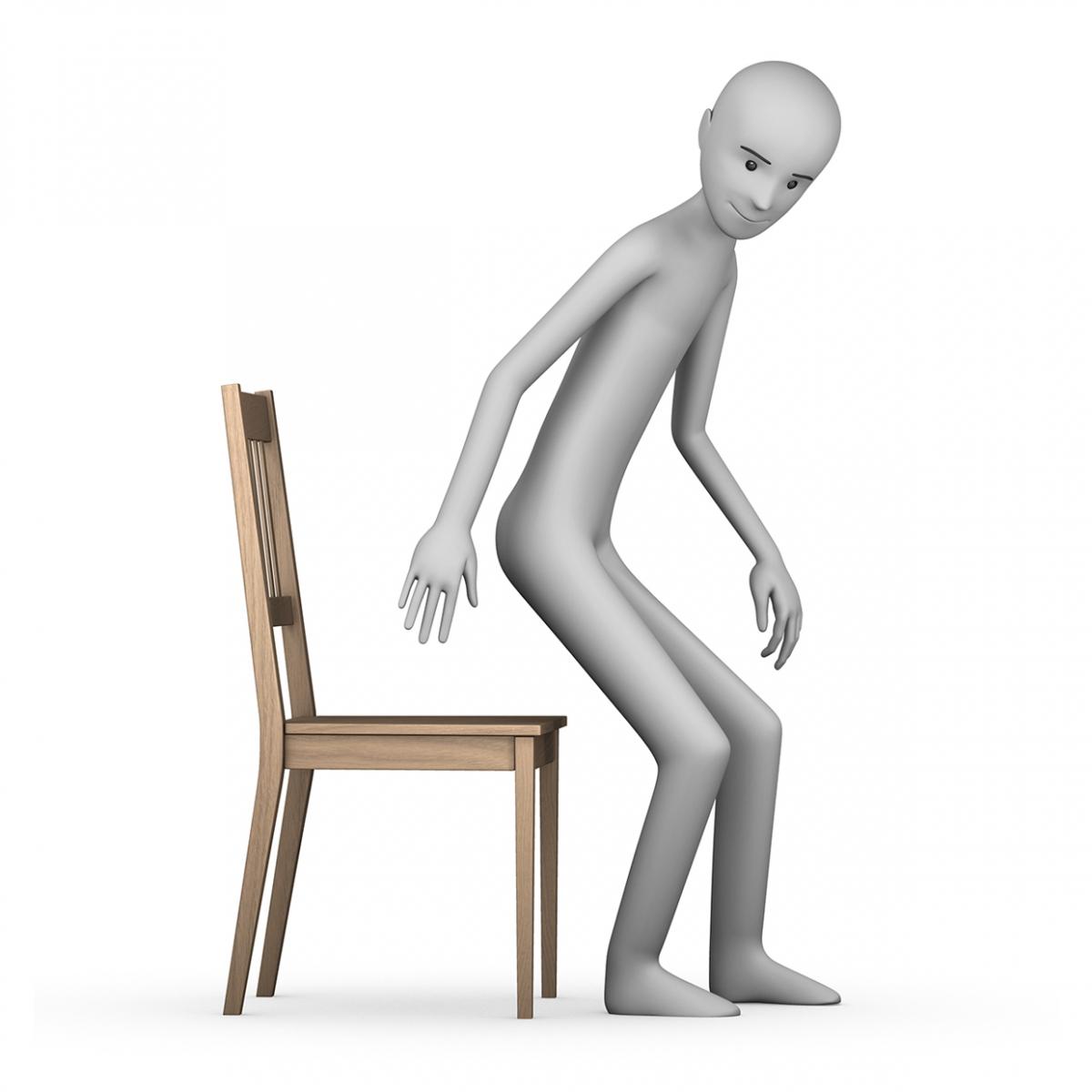 Imagen del verbo sentarse