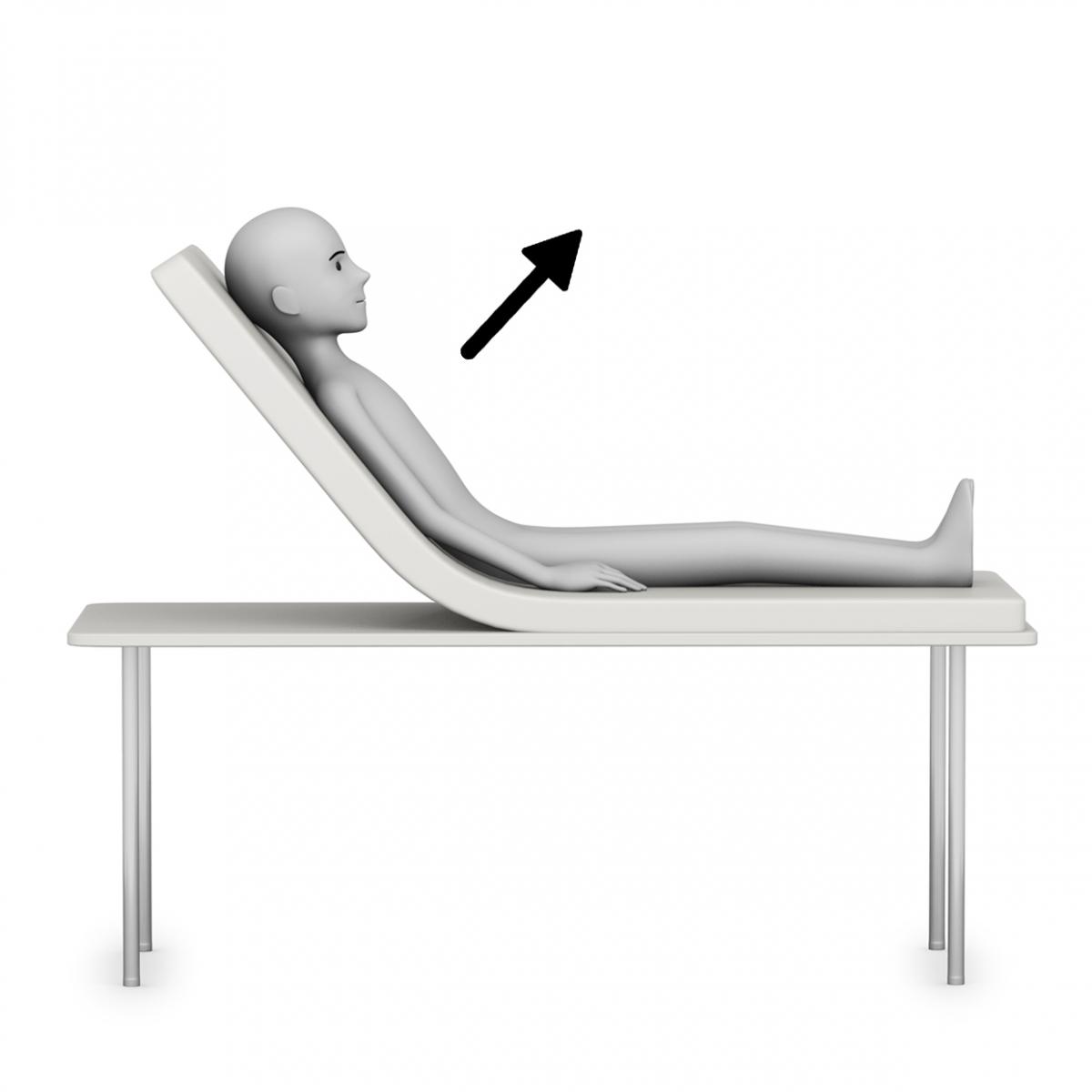 Imagen del verbo subir la cama