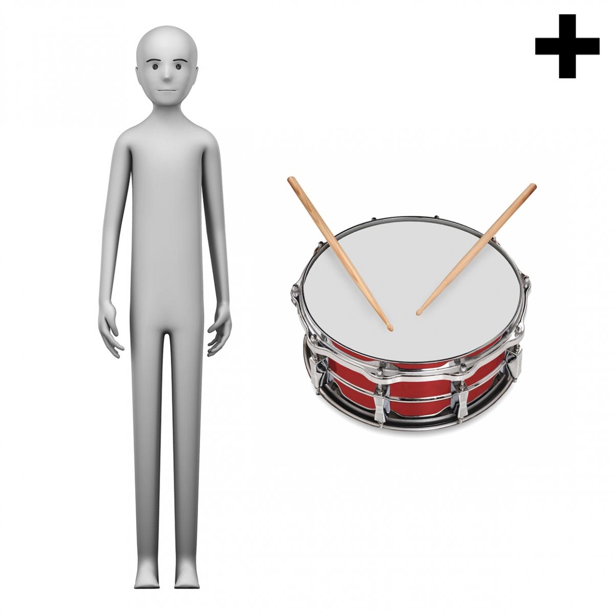 Imagen en la que se ve el plural del concepto tamborilero o tamborilera