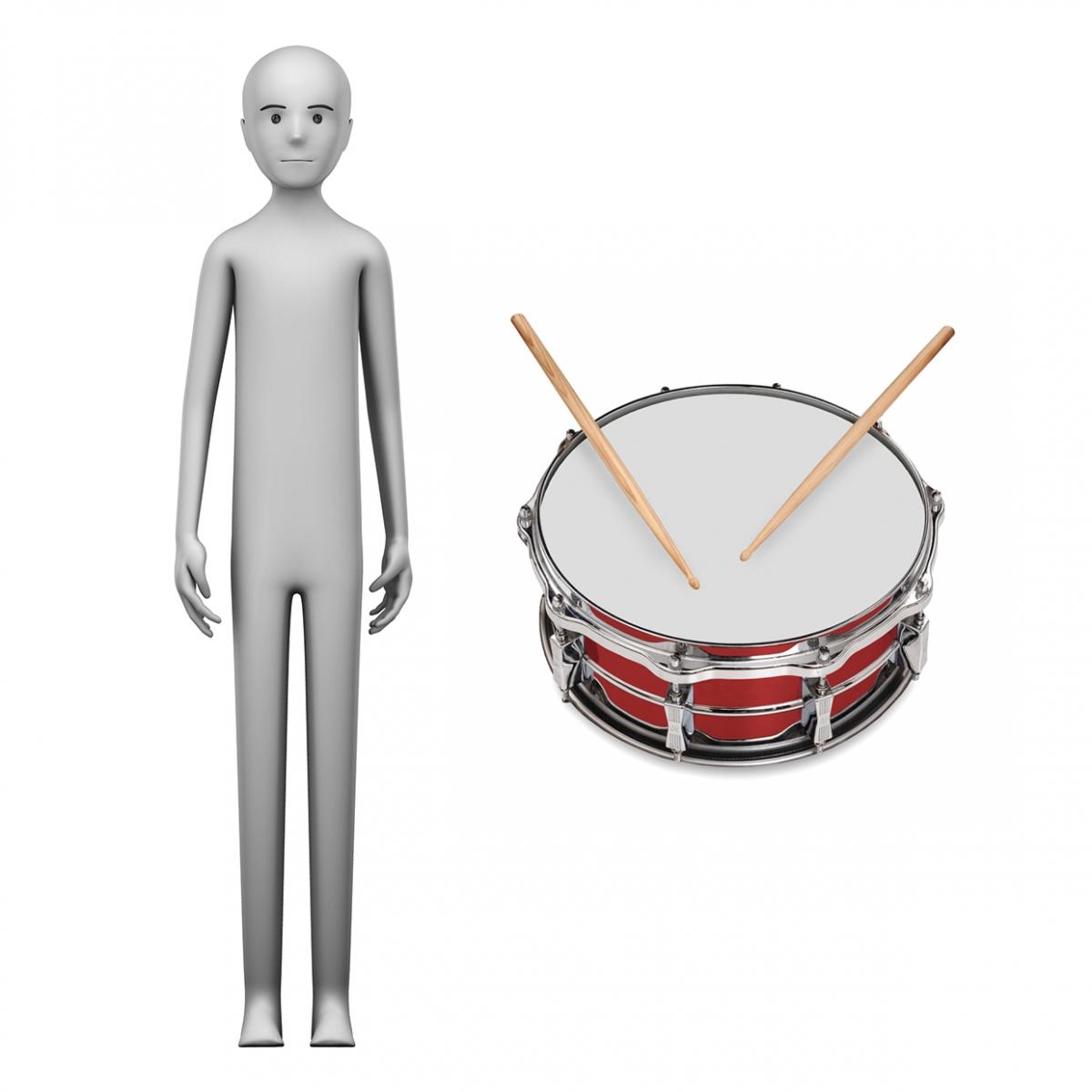 Imagen en la que se ve el concepto de tamborilero o tamborilera