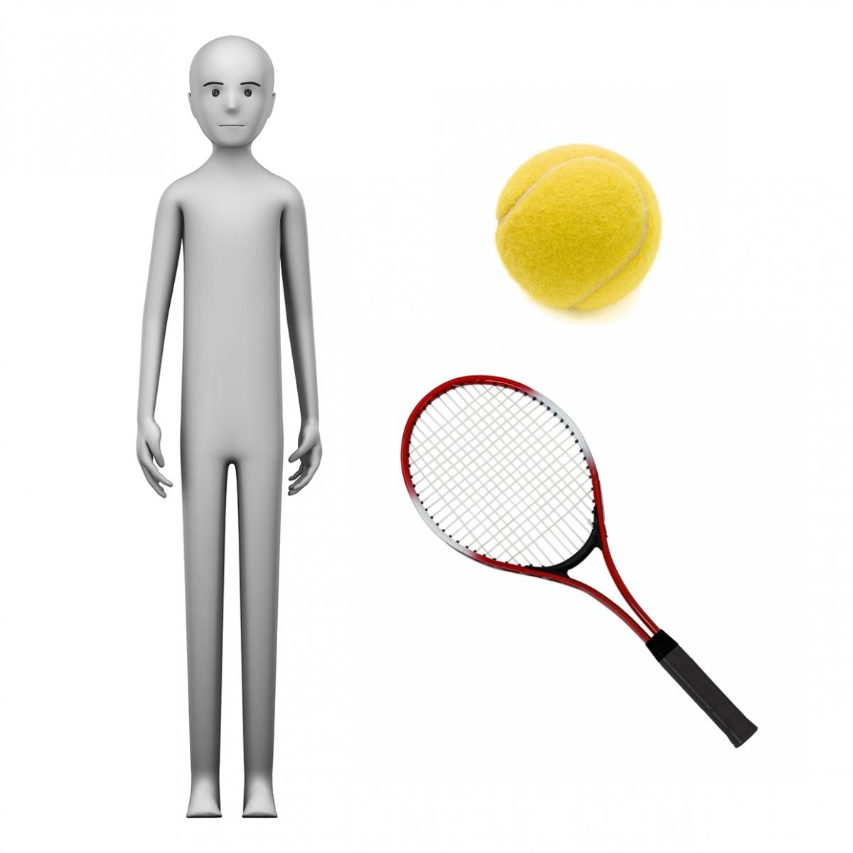 Imagen en la que se ve el concepto de tenista