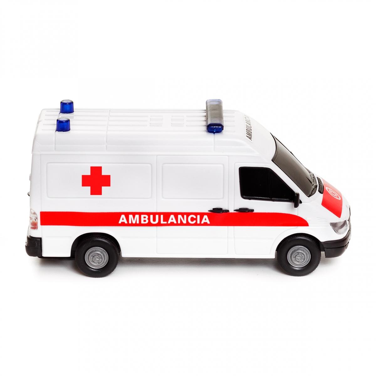 Imagen en la que se ve una ambulancia