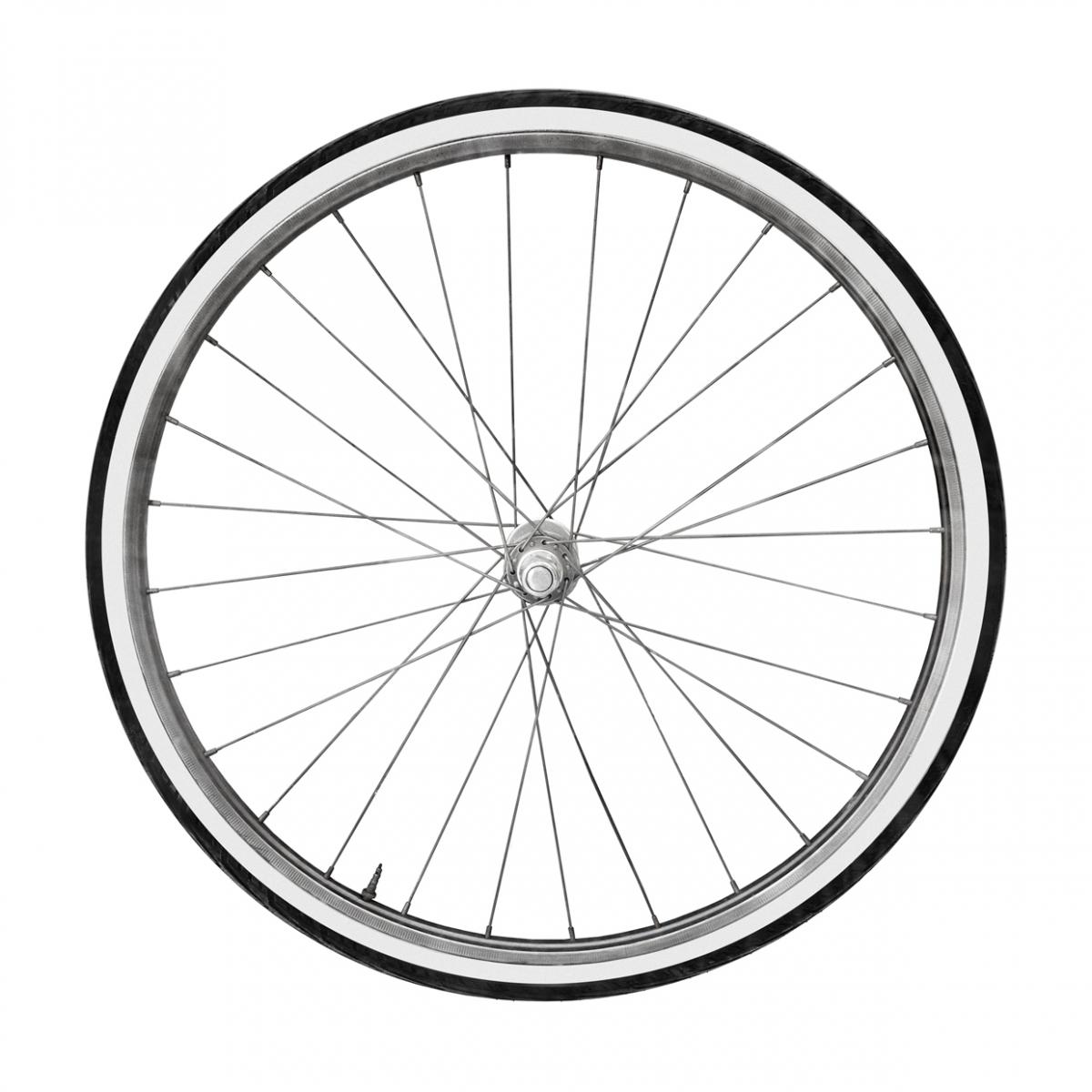 Imagen en la que se ve una rueda de bicicleta