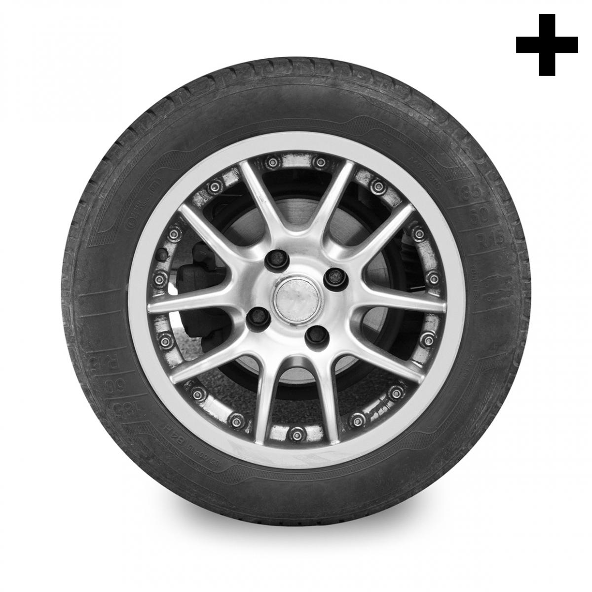 Imagen en la que se ve el plural del concepto rueda de coche