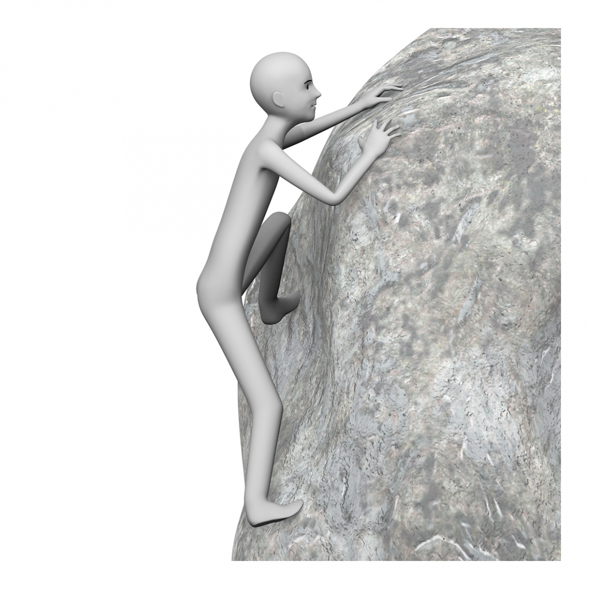 Una persona escala en una roca