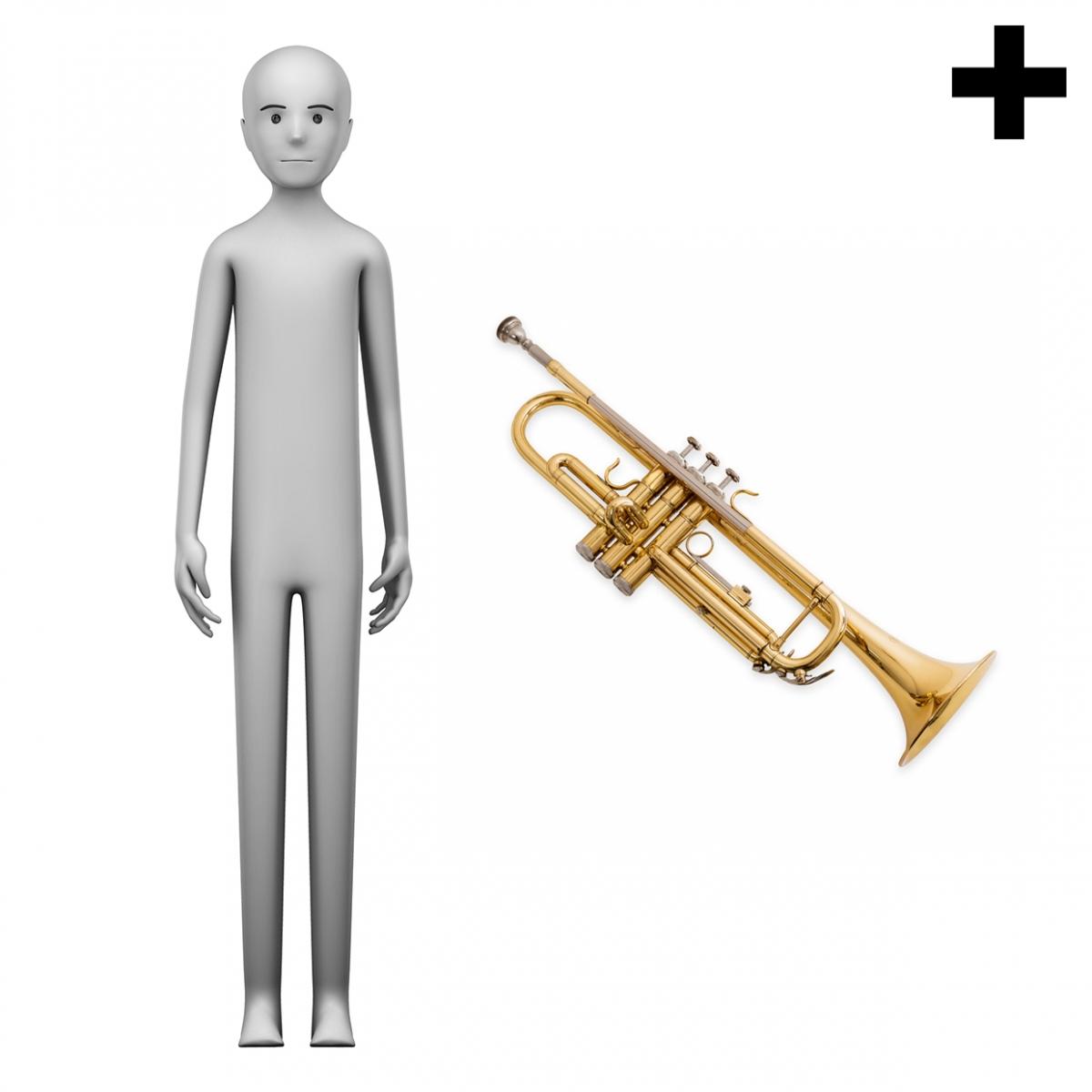Imagen en la que se ve el plural del concepto trompetista