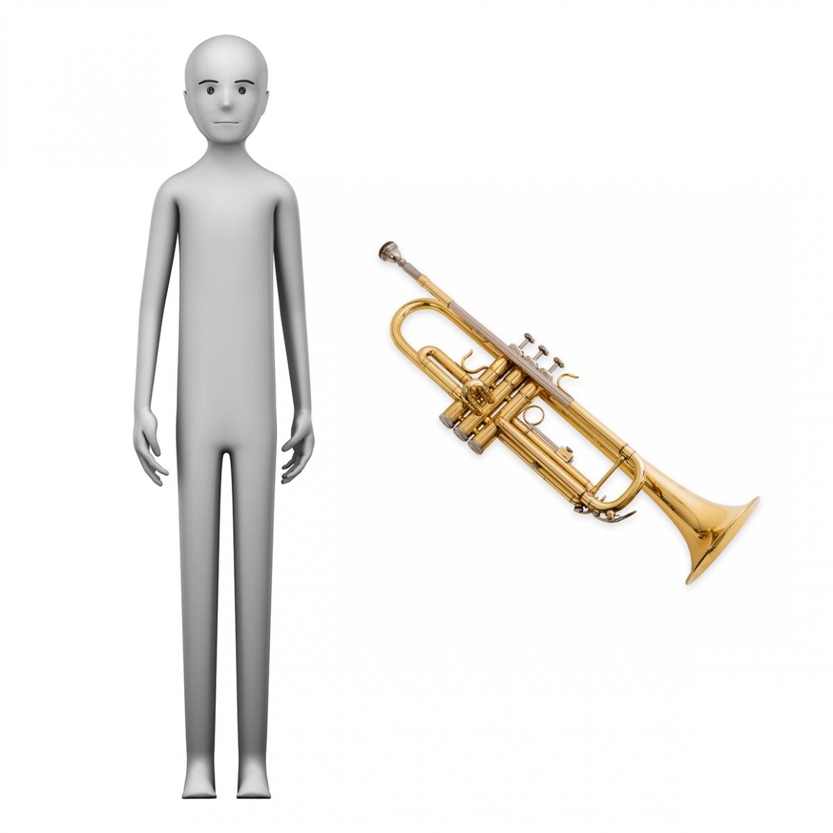 Imagen en la que se ve el concepto de trompetista