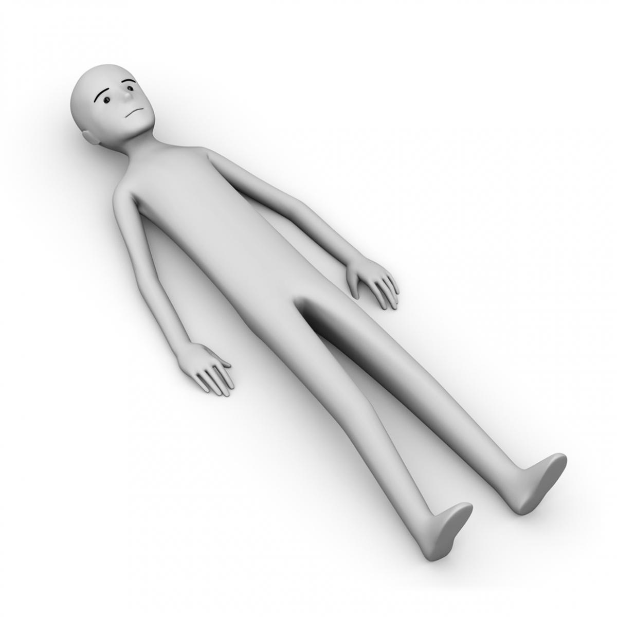 Imagen de una persona tumbada bocarriba