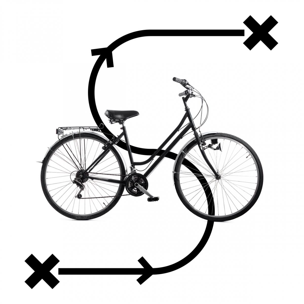 Imagen en la que se ve el concepto viajar en bicicleta