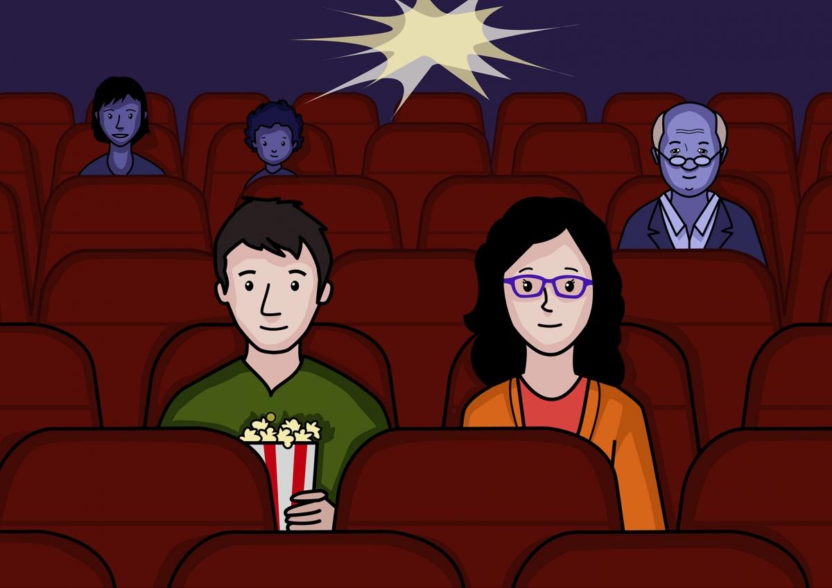 Mamá y papá están en el cine