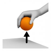 Imagen del verbo coger