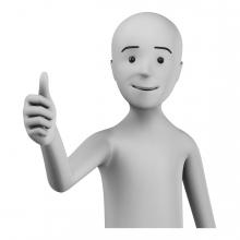 Imagen en la que aparece una persona haciendo el símbolo de aprobación con la mano