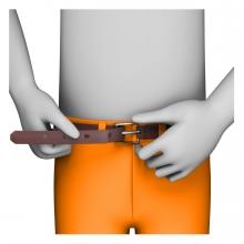 Imagen del verbo abrochar el cinturón
