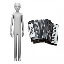 Imagen en la que se ve el concepto de profesión acordeonista