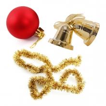 Imagen en la que se ve el concepto genérico de adornos de Navidad