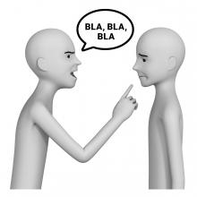 Imagen del verbo advertir