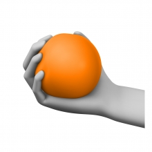 Imagen en la que se ve una mano agarrando una pelota