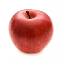 Imagen en la que se ve una manzana roja