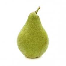 En la imagen se ve una pera verde