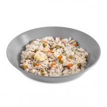 Imagen en la que se ve un plato de arroz tres delicias