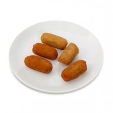 Imagen en la que se ve un plato de croquetas