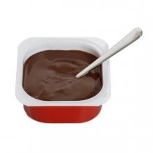 Imagen en la que se ve una natilla de chocolate