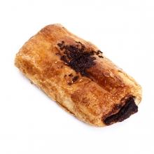 Imagen en la que se ve una napolitana de chocolate