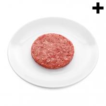 Imagen en la que se ve el plural del concepto hamburguesa sin cocinar