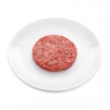 Imagen en la que se ve una hamburguesa sin cocinar
