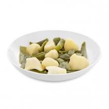Imagen en la que se ve un plato de judías verdes con patatas
