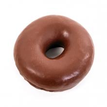 Imagen en la que se ve un Donut de chocolate