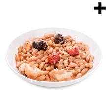 Imagen en la que se ve el plural del concepto plato de fabada