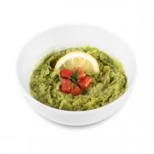 Imagen en la que se ve un cuenco con guacamole