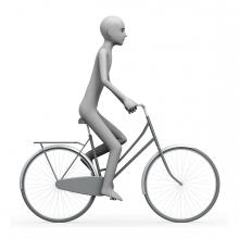 Imagen del verbo andar en bicicleta