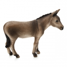 Imagen en la que se ve un burro de perfil