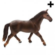 Imagen en la que se ve un caballo de perfil
