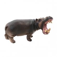 Imagen en la que se ve un hipopótamo