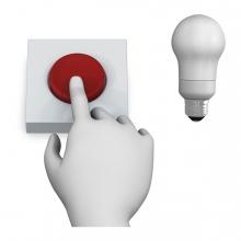 Imagen en la que se ve el concepto apagar la luz con pulsador