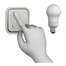Imagen del verbo apagar la luz