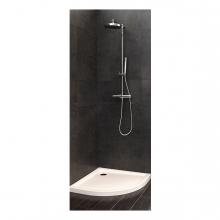 Imagen en la que se ve una ducha en un cuarto de baño