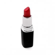 Imagen en la que se ve una barra de labios de color rojo