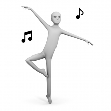 Imagen del verbo bailar