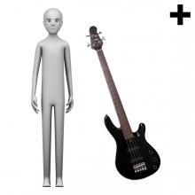 Imagen en la que se ve el plural del concepto bajista