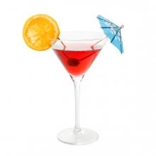 Imagen en la que se ve una copa con un cóctel