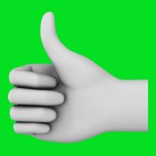 Imagen en la que aparece una mano haciendo el símbolo de aprobación
