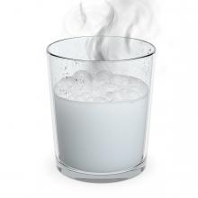 Imagen en la que se ve un líquido caliente con humo