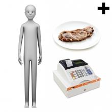 Imagen en la que se ve el plural del concepto carnicero o carnicera