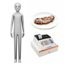Imagen en la que se ve el concepto de carnicero o carnicera