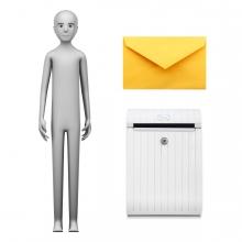 Imagen en la que se ve el concepto de cartero o cartera